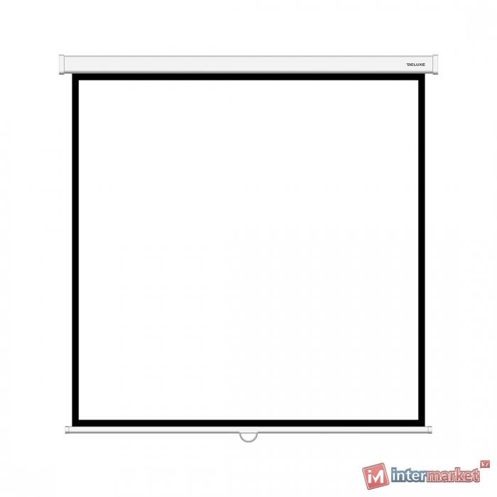 Экран механический, Deluxe, DLS-M180xW, Настенный/потолочный, Рабочая поверхность 172x172, 1:1, Matt white, Белый