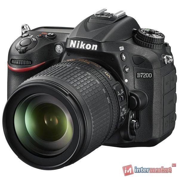 Фотоаппарат Nikon D7200 Kit, 18-105mm VR, Black