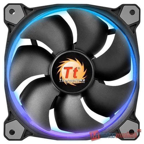 Кулер для кейса Thermaltake Riing 14 LED RGB Switch, Чёрный